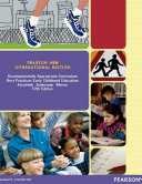 Developmentally Appropriate Curriculum  Pearson New International Edition Book