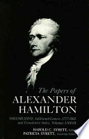 Papers of Alexander Hamilton cover art