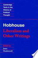 Hobhouse  Liberalism and Other Writings