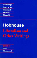 Hobhouse: Liberalism and Other Writings