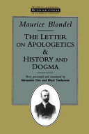 The Letter on Apologetics, and History and Dogma
