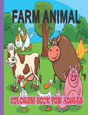 Farm Animal Coloring Book for Adults