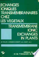 Transmembrane Ionic Exchanges in Plants Book