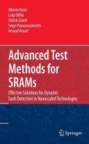Advanced Test Methods for SRAMs