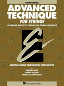 Essential Elements Advanced Technique for Strings Book PDF