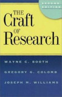 The Craft of Research  2nd edition