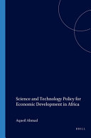 Science and Technology Policy for Economic Development in Africa