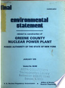 Greene County Nuclear Power Plant  Construction