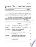 James Dickey Newsletter