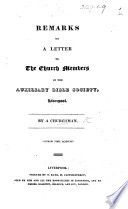 Remarks On A Letter To The Church Members Of The Auxiliary Bible Society Liverpool By A Churchman Book PDF