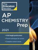 Princeton Review AP Chemistry Prep 2021 Book