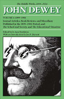 The Middle Works of John Dewey  1899 1924
