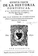 Quinta parte de la Historia pontifical, etc