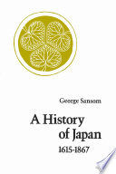 A History of Japan, 1615-1867 Book Online