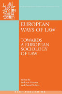 European Ways of Law