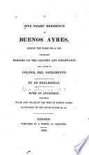 A Five Years' Residence in Buenos Ayres Pdf/ePub eBook