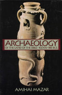 Cover of Archaeology of the Land of the Bible, 10,000-586 B.C.E.