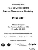 Proceedings of the     ACM SIGCOMM Internet Measurement Workshop
