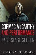 Cormac McCarthy and Performance [Pdf/ePub] eBook
