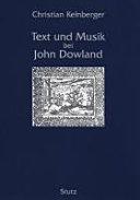 Text und Musik bei John Dowland
