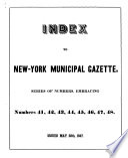 New York Municipal Gazette New York N Y