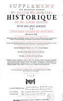 Supplement aux anciennes editions du grand Dictionaire historique de Mre. Louis Moreri