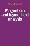 Magnetism and Ligand Field Analysis