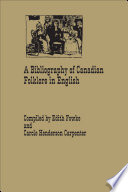 A Bibliography of Canadian Folklore in English