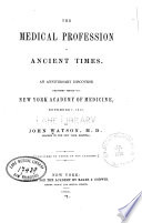 The Medical Profession in Ancient Times