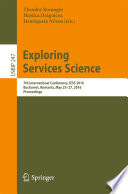 Exploring Services Science  : 7th International Conference, IESS 2016, Bucharest, Romania, May 25-27, 2016, Proceedings