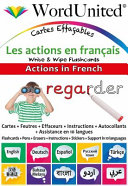 ACTIONS in FRENCH   WRITE and WI PE FLASHCARDS Book PDF
