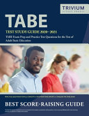 TABE Test Study Guide 2020 2021