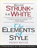 The Elements of Style  Fourth Edition Book