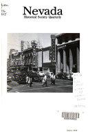 Nevada Historical Society Quarterly Book PDF