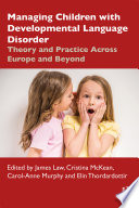Managing Children with Developmental Language Disorder