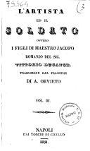L'artista ed il soldato, ovvero I figli di maestro Jacopo romanzo del sig. Vittorio Ducange