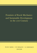 Frontiers of Rock Mechanics and Sustainable Development in the 21st Century [Pdf/ePub] eBook