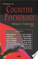 Frontiers In Cognitive Psychology Book PDF