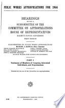 Hearings, Reports and Prints of the House Committee on Appropriations