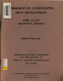 Workshop on Antiepileptic Drug Development