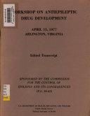 Workshop On Antiepileptic Drug Development Book PDF