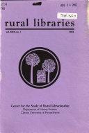 Rural Libraries Book