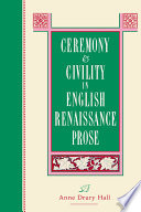 Ceremony and Civility in English Renaissance Prose Pdf/ePub eBook