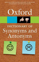 Cover of The Oxford Dictionary of Synonyms and Antonyms