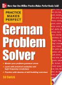 Practice Makes Perfect German Problem Solver Ebook  Book