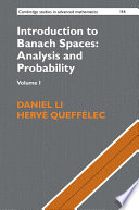 Introduction to Banach Spaces  Analysis and Probability Book