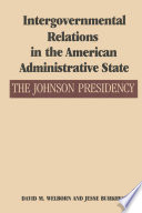 Intergovernmental Relations In The American Administrative State