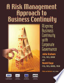 A Risk Management Approach To Business Continuity Book PDF