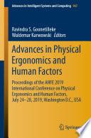 Advances in Physical Ergonomics and Human Factors Book