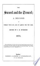 The Sword and the trowel  ed  by C H  Spurgeon Book PDF
